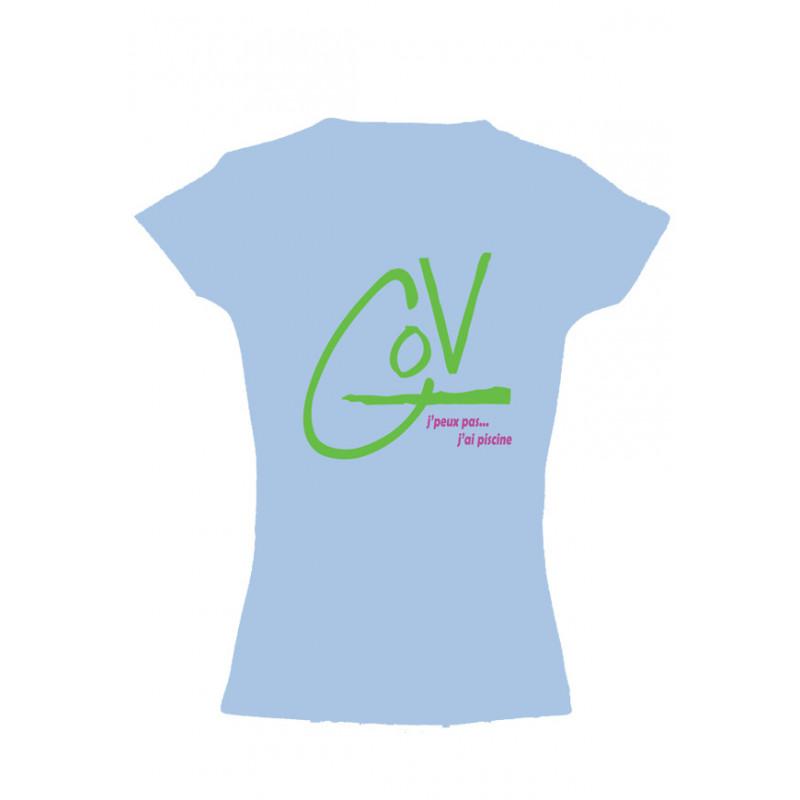642d33b9b4ed5 Natation Tee-shirt Femme Taille S Couleur Bleu ciel